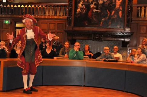 Willem IV over het schilderij van Herman Collenius