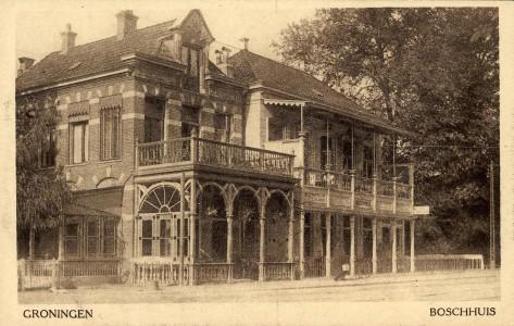 Boschhuis en Koffiehuis v.d.Wolde in 1910.