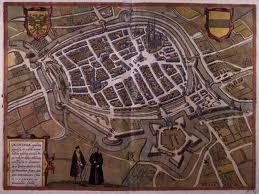Groningen volgens de kaart van Braun en Hogenberg, 1575