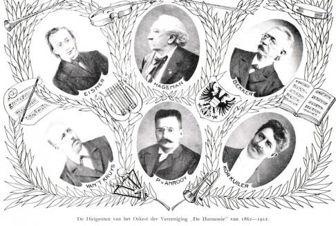 Dirigenten Orkest de Harmonie 1862-1912
