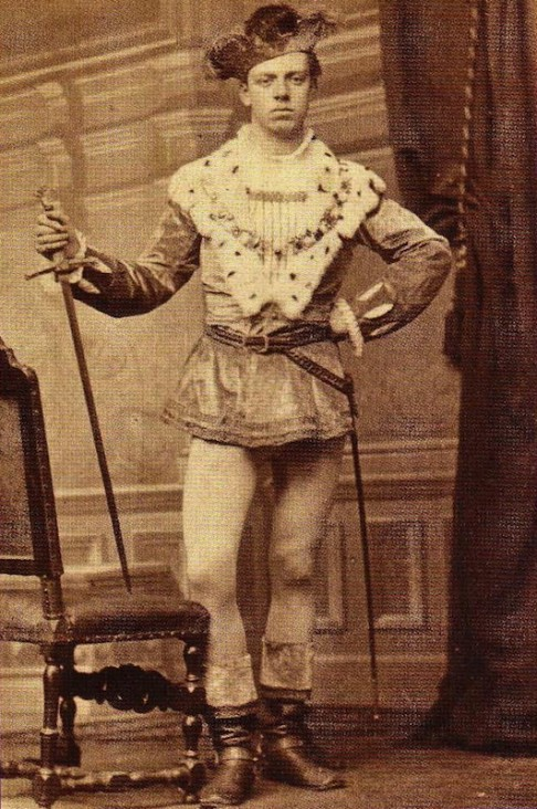 Jan Feith tijdens de maskerade van 1879 (collectie RHC Groninger Archieven)