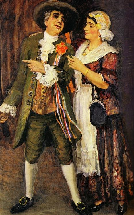 Het echtpaar Rut Hofman-Jo Rutgers geschilderd door Johan Dijkstra in 1948