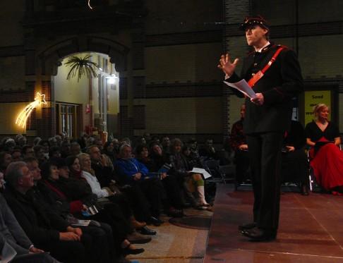 Presentatie tijdens Kerstnacht